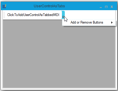 User control as tab in TabbedMDI with image
