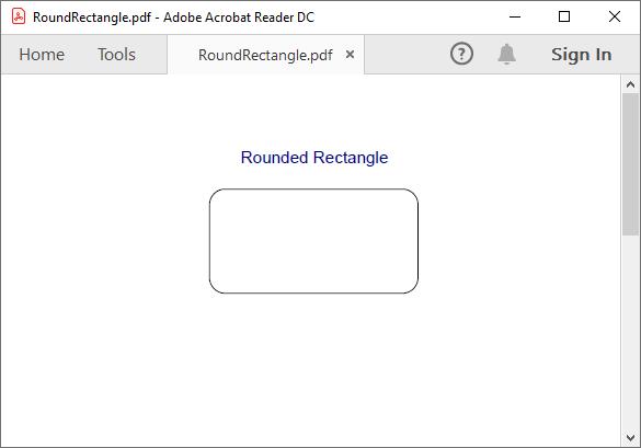 Round corner rectangle