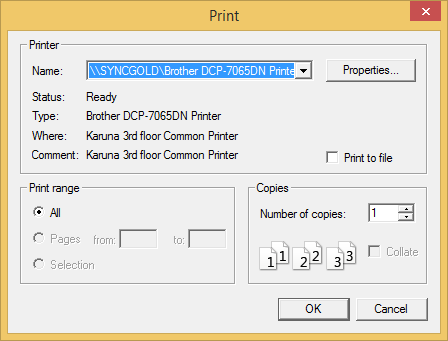 Show printer option in TreeViewAdv