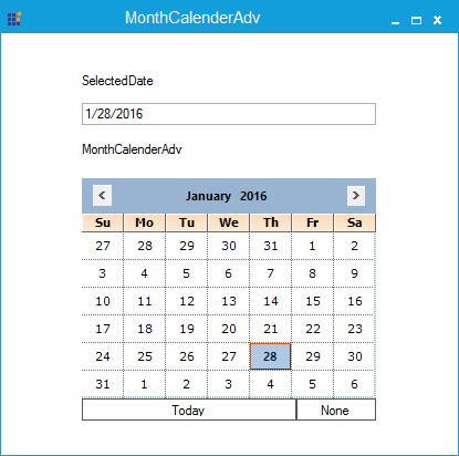 Multiple date selection restricted in MonthCalendarAdv