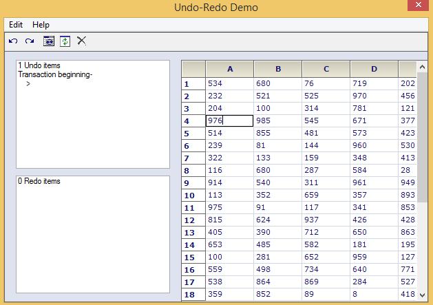 Undo and redo operation in GridControl