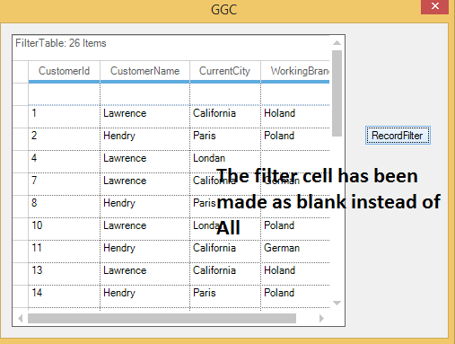 Filter cell as blank in GridGroupingcontrol