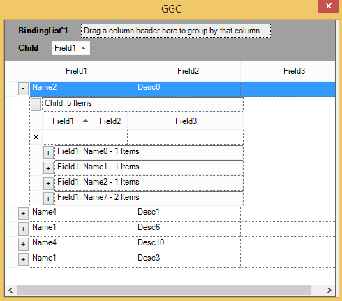 Populate the data of nested table on expanded item
