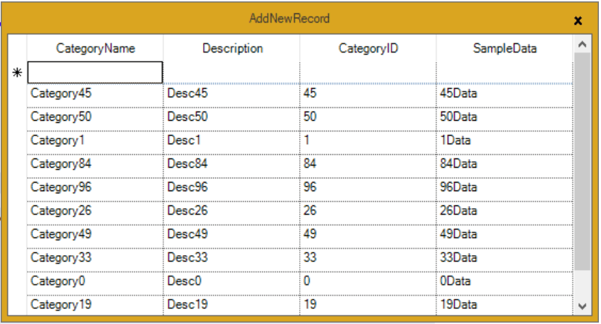 Adding new record into GridGroupingControl