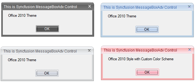 Applied Office2010 style to MessageBoxAdv