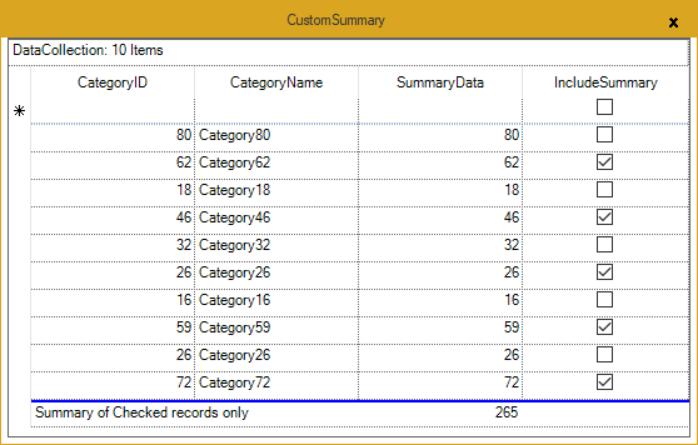 Custom summaries of GridGroupingControl