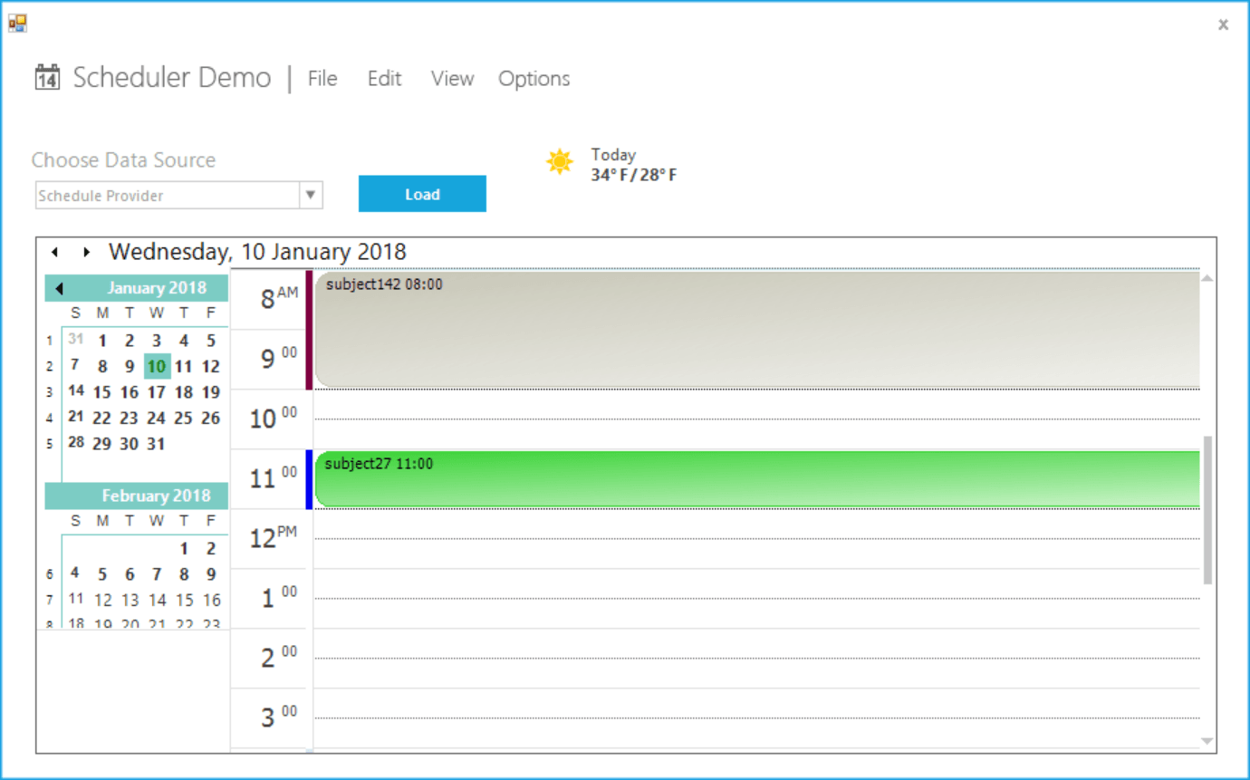 Show all day view in schedule control