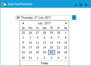 Customize the appearance of MonthCalendarAdv