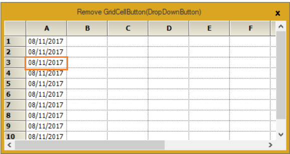 Remove the grid cell button in GridControl