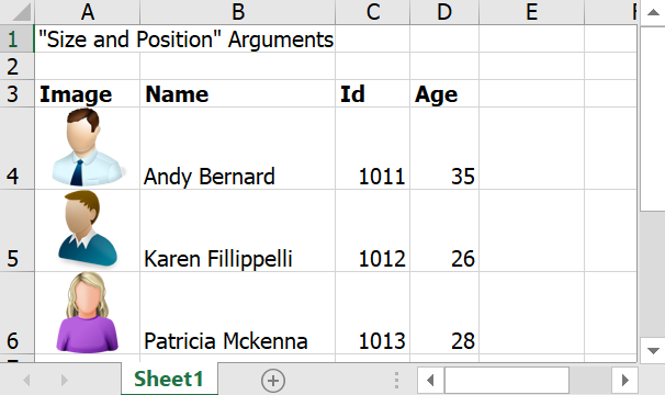 Size and Position Arguments
