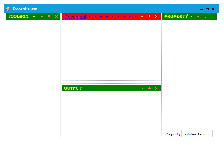 Customize the background and foreground of dock window
