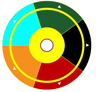 Customize the RadialColorPalette outline color
