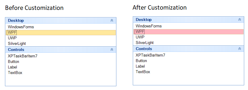Customize the backcolor of selected item in Office2007 visualstyle
