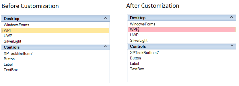 Customize the backcolor of selected item in Office2010 visualstyle