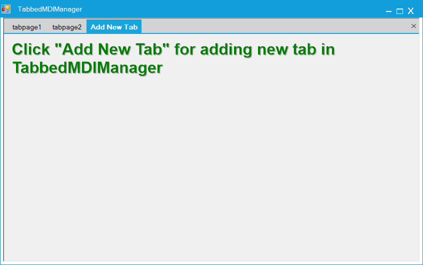 Show the new tab button in TabbedMDIManager control