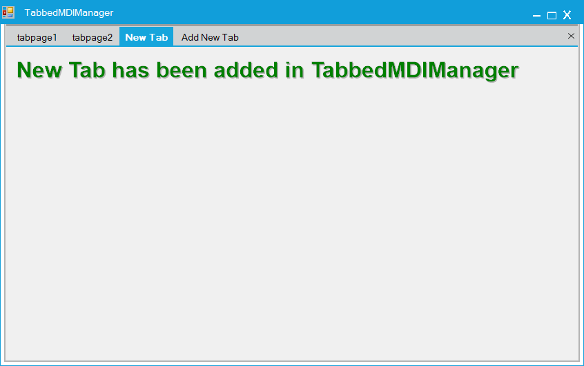 Show the new tab is added in TabbedMDIManager