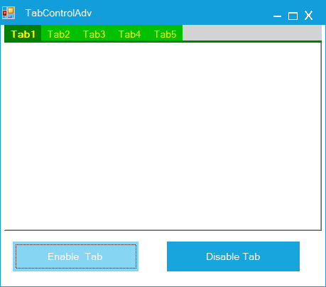 Show the enable tab page