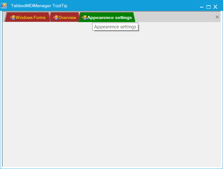 Show tooltip hover on the tab header in TabbedMDIManager