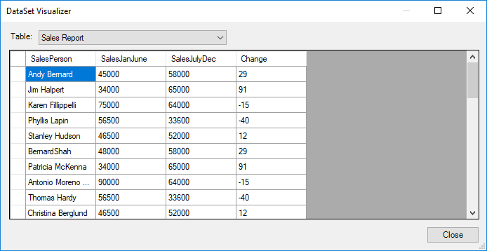 Export Excel to DataTable