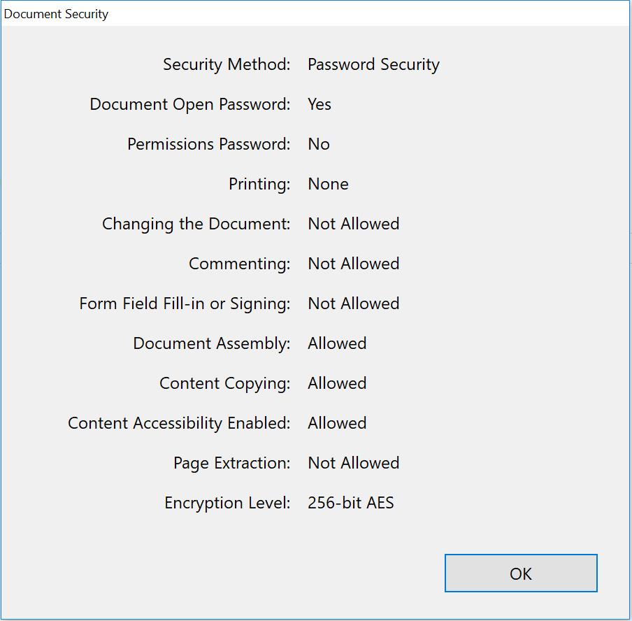 PDF document security