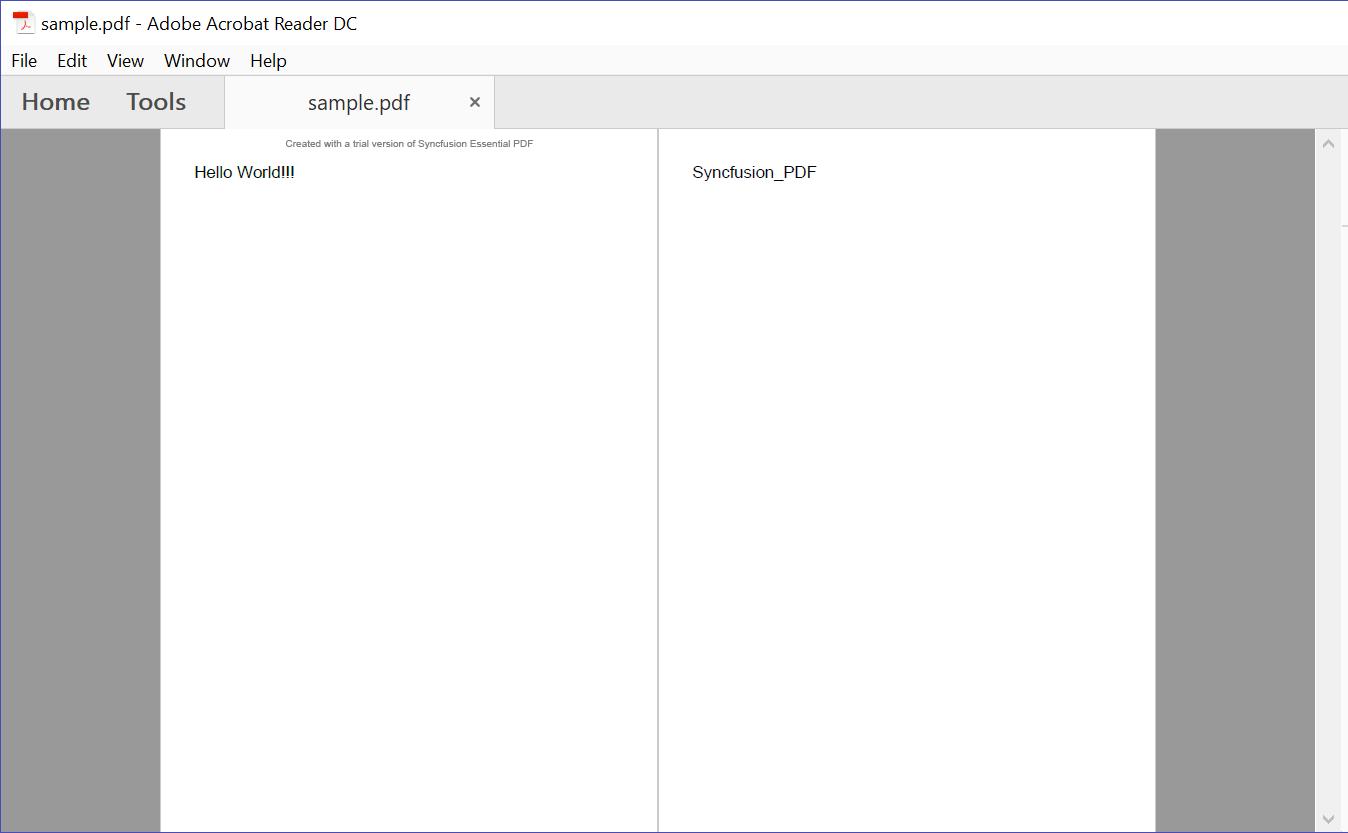 Ouput of Merged PDF file