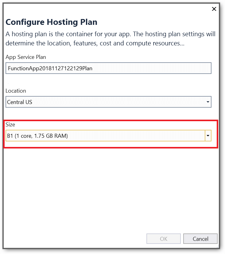 Configure hosting plan