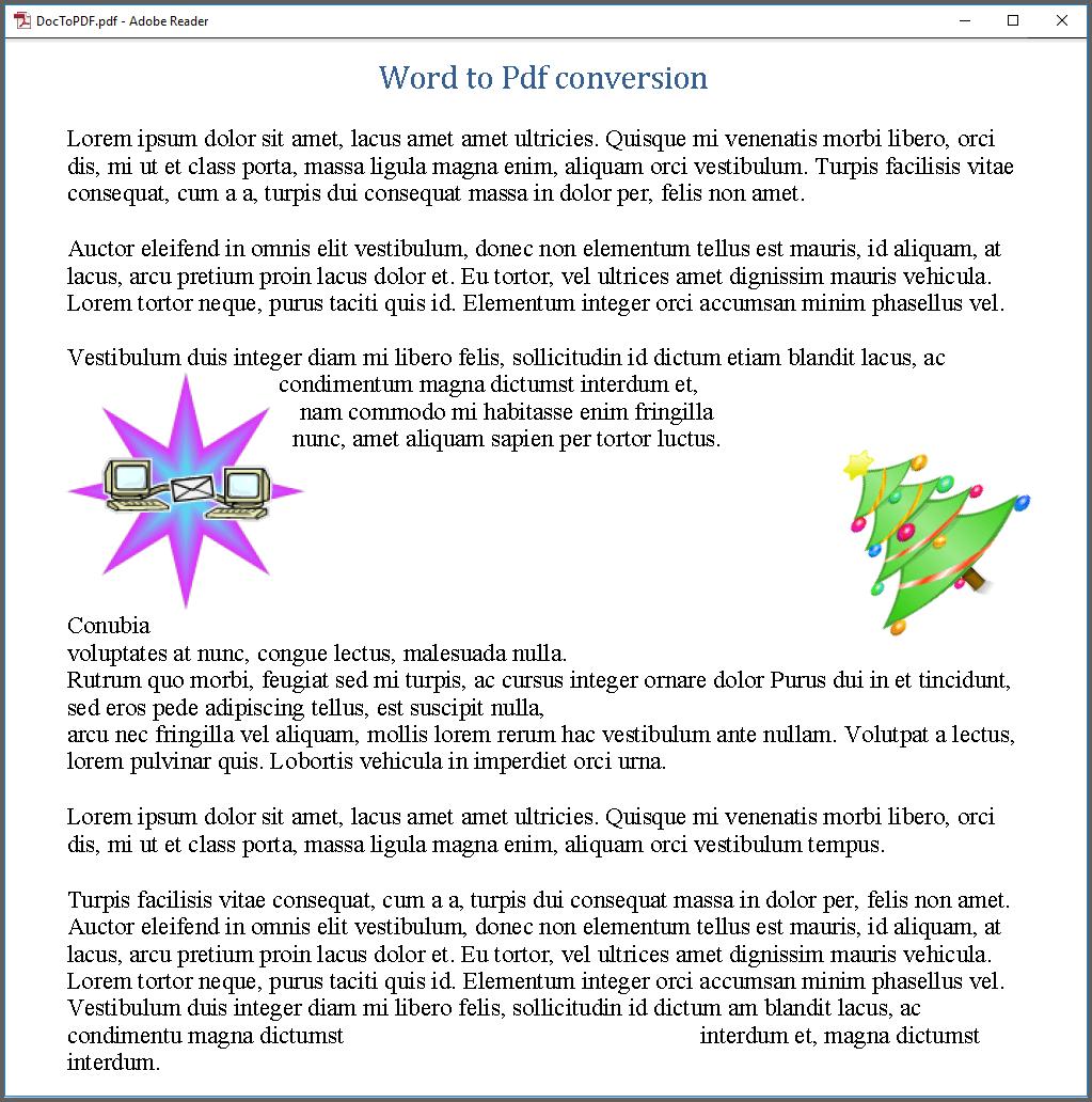 Generated PDF document