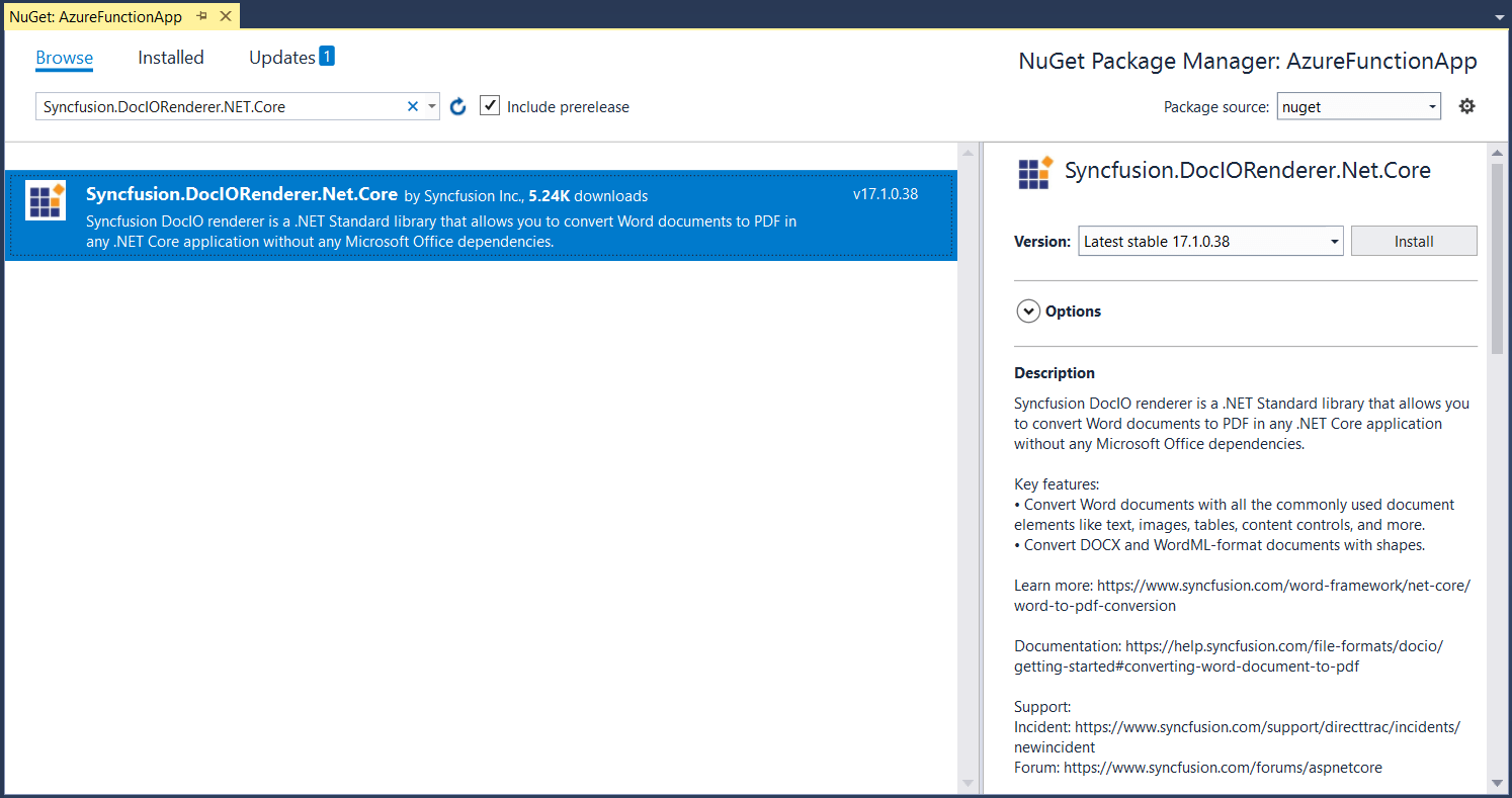 Installing NuGet from nuget.org