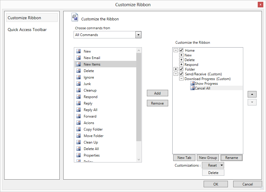 Customize the ribbon window in WPF Ribbon control