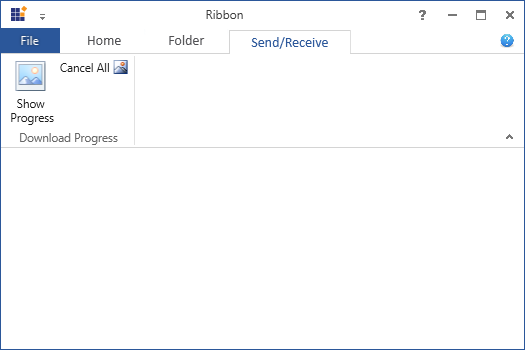 Displays after adding the items from customize ribbon window in WPF Ribbon