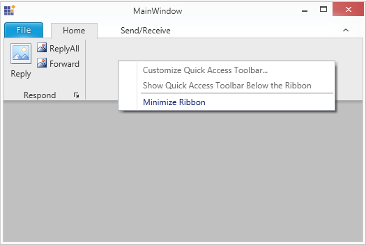 Display the ribbon contextmenu while RibbonContextMenuOpening event is not handled in WPF Ribbon