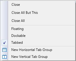 Default context menu of WPF DockngManager