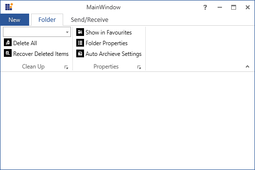 Change the Backstage header in WPF Ribbon control