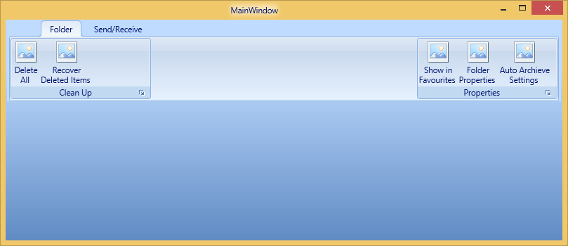 Ribbonbar shows in right side in WPF Ribbon control