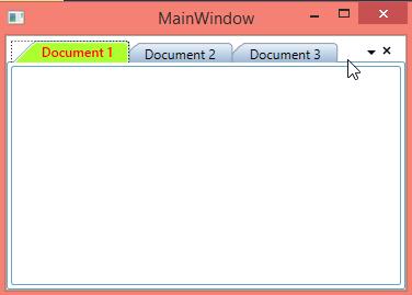 Customizing active tab header in WPF DockingManager