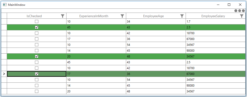 Change the row background based on property in record of WPF DataGrid
