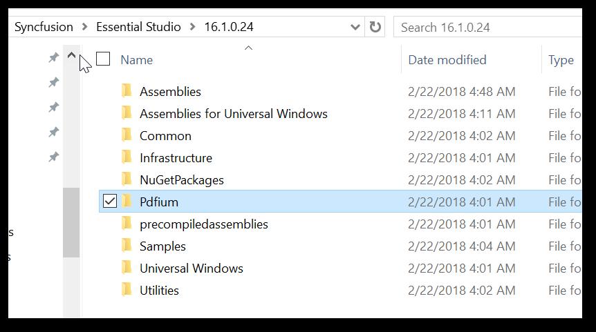 Copy PDFium assembly folder