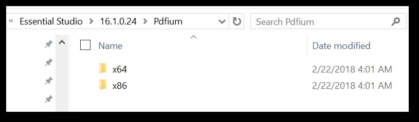 Opened the PDFium folder