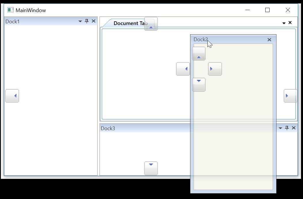 Collapse center drag provider of WPF DockingManager