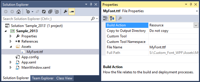 Adding required font as resource file