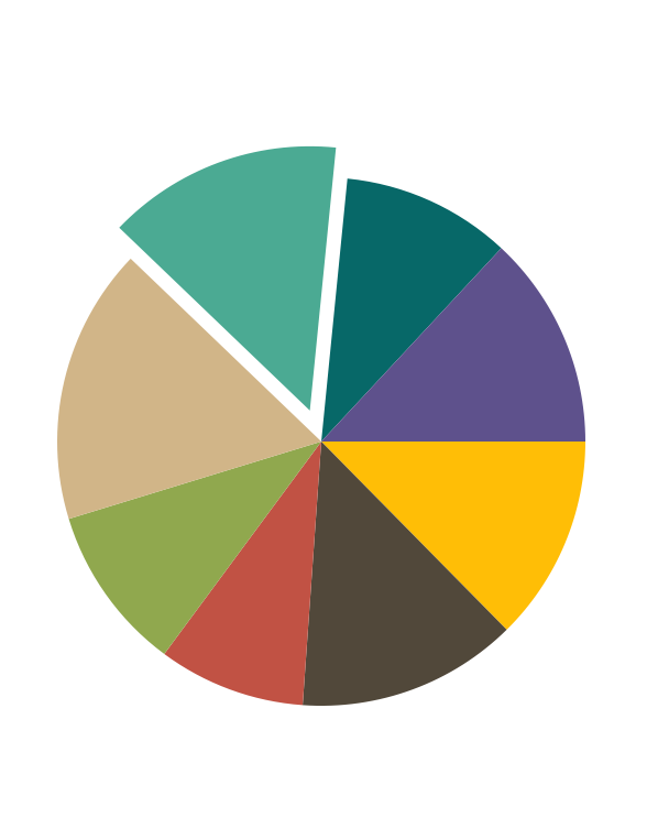 Pie Chart with exploded segment in Xamarin.Forms