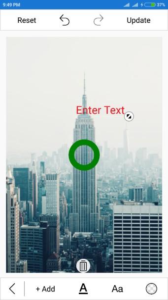 Adding text using xamarin SfImageEditor