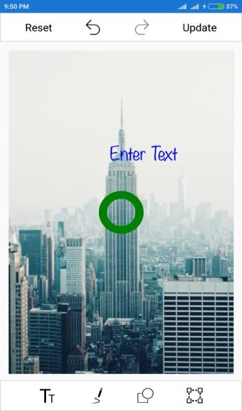 Customized text using xamarin SfImageEditor