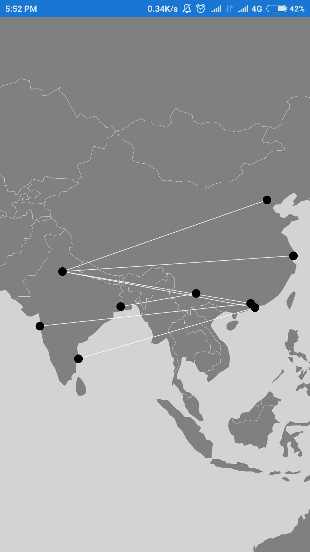 Lines between two terminals using xamarin SfMaps