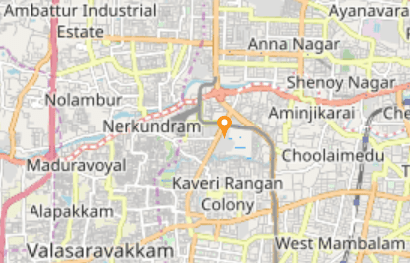 Map showing current GPS location