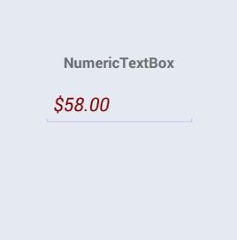 SfNumericTextBox Font Attribute - Italic with Numeric Values