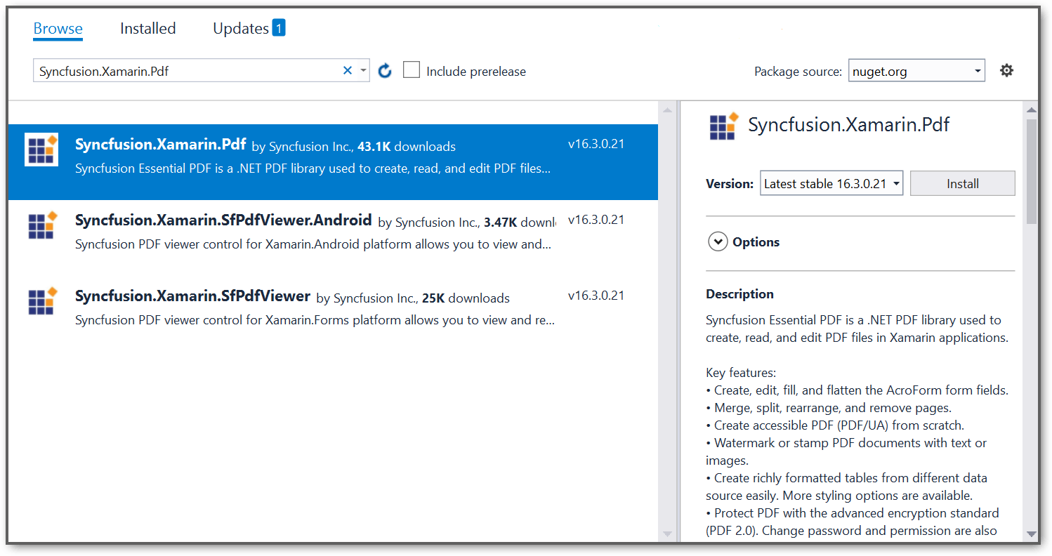 NuGet package reference