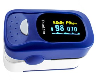 View the product FaceLake FL-100 Fingertip Pulse Oximeter-Blood Oxygen Monitor