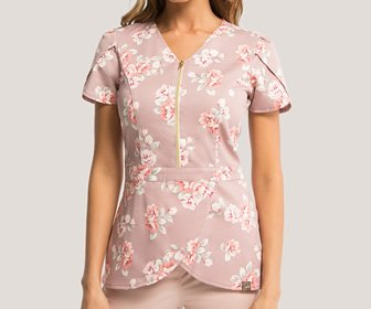 View the product Tulip Top Scrub Top by Jaanuu Scrubs