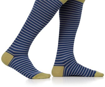 View the product VIM & VIGR Men's Little Stripes Compression Socks